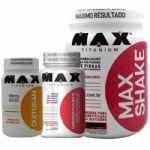 Kit Emagrecedor Max Shake 400g Mor + Quitosana 60 Caps + Cromo 60 caps - Max Titanium