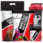 Kit - Hard Mass 3000g Chocolate + Malto Dextrin 1000g Guarana C/ Açaí + Creatine 70g + Coqueteleira - BodyAction no Atacado