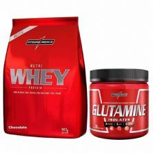 Kit Nutri Whey Chocolate + Glutamine 300g - IntegralMédica