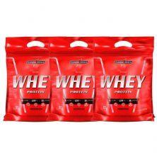 Kit Nutri Whey Protein - Refil Chocolate, Baunilha, Morango 907g - Integralmédica