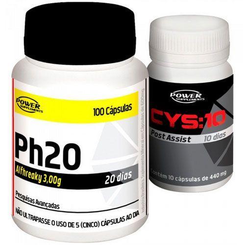 Kit Ph20 + CYS:10 - 100 cápsulas - Power Supplements