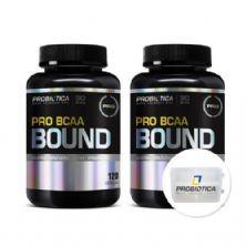 Kit Pro BCAA Bound 120 Cápsulas + Porta Cáps - Probiótica