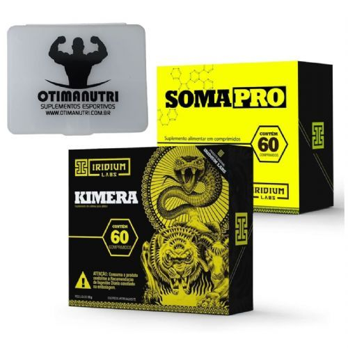 Kit Somapro - 60 Cápsulas + Kimera Thermo - 60 comprimidos + Porta Cápsula - Iridium Labs no Atacado