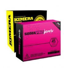 Kit Somapro Woman - 45 Tabletes + Kimera Thermo - 60 comprimidos - Iridium Labs