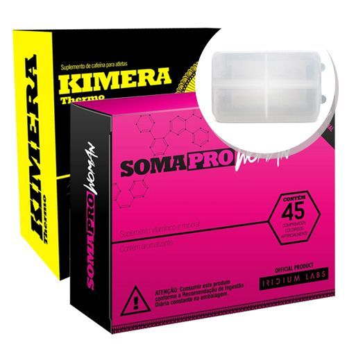 Kit Somapro Woman - 45 Tabletes + Kimera Thermo - 60 comprimidos + Porta cápsulas - Iridium Labs