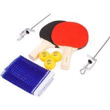 Kit Tênis De Mesa Com Rede - 2 Raquetes, 3 Bolas e 1 Rede - Vollo Sports