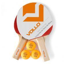 Kit Tênis De Mesa Com Rede - 2 Raquetes e 3 Bolas - Vollo Sports