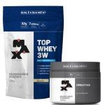 Kit Top Whey 3W - 1800g Refil Baunilha + Creatina - 300g - Max Titanium no Atacado