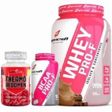 Kit Whey Pro-F Chocolate + BCAA + Thermo Abdomen BodyAction