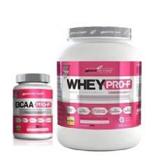 kit Whey Pro-F Morango + BCAA 90 cáps BodyAction
