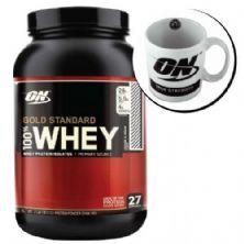 Kit Whey Protein 100% Gold Standard 909g Brigadeiro + Caneca - Optimum Nutrition