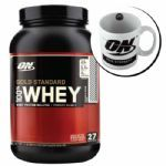 Kit Whey Protein 100% Gold Standard 909g Chocolate + Caneca - Optimum Nutrition