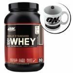 Kit Whey Protein 100% Gold Standard 909g Doce de Leite + Caneca - Optimum Nutrition
