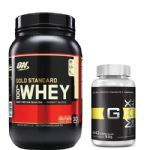 Kit Whey Protein 100% Gold Standard - 909g Doce de Leite + Gmax Original - Intlab