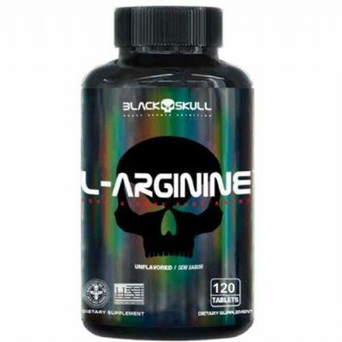 L-Arginine - 120 Tablets - Black Skull no Atacado