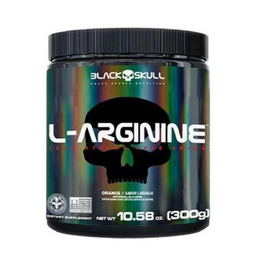 L-Arginine - 300g Laranja - Black Skull no Atacado