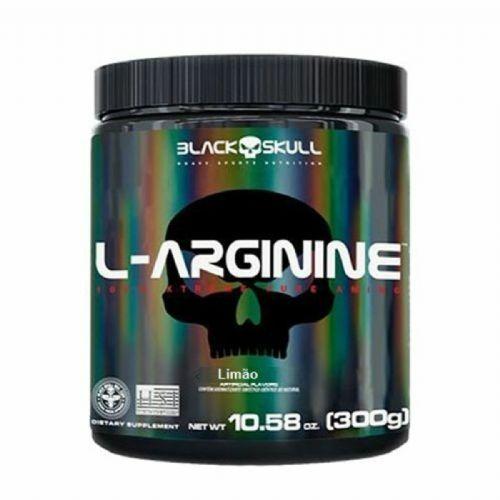 L-Arginine - 300g Limão - Black Skull no Atacado