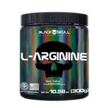 L-Arginine - 300g Sem Sabor - Black Skull