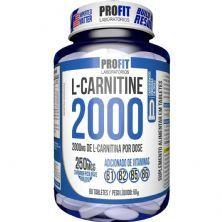 L-Carnitina 2000 + 250mcg Cromo - 60 Tabletes - ProFit