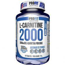L-Carnitina 2000 + 250mcg Cromo - 120 Tabletes - ProFit