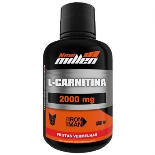 L-Carnitina 2000mg - 500ml Frutas Vermelhas - New millen no Atacado