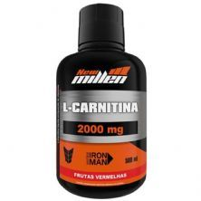 L-Carnitina 2000mg - 500ml Frutas Vermelhas - New millen
