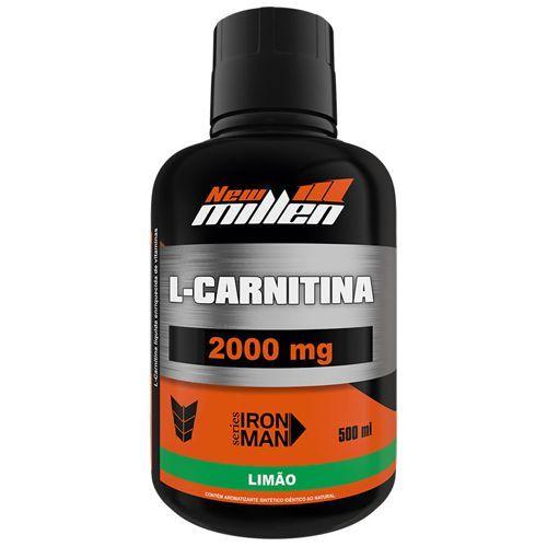 L-Carnitina 2000mg - 500ml Limão - New millen no Atacado