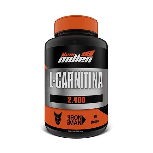 L-Carnitina 2400mg - 90 Cápsulas - New Millen no Atacado