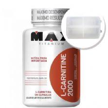 L-Carnitine 2000 - 120 cápsulas + Porta Cápsulas transparente - Max Titanium