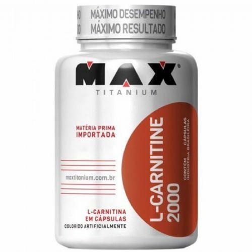 L-Carnitine 2000 - 60 Cápsulas - Max Titanium no Atacado