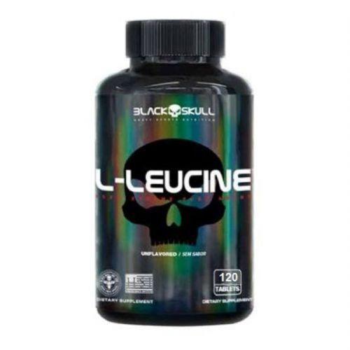 L-Leucine - 120 Tablets - Black Skull no Atacado