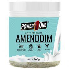 Leite em Pó de Amendoim - 240g - Power One