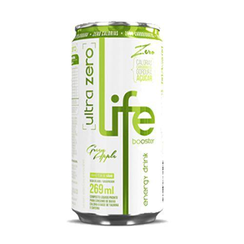Life Booster Energy Drink Ultra Zero - Maça Verde - Life Booster - 269ml