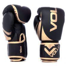 Luva Boxe Training - 10 Oz Preta e Dourada - Vollo Sports