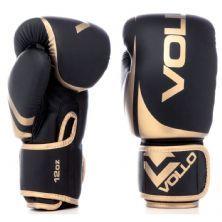 Luva Boxe Training - 12 Oz Preta e Dourada - Vollo Sports
