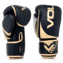 Luva Boxe Training - 14 Oz Preta e Dourada - Vollo Sports
