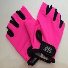 Luva Lycra para Musculação - Tamanho M - Pink Neon - Tok Esportivo