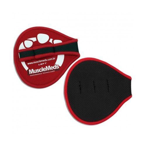 Luva para Musculação Esportiva Grippad - Tamanho Unico -Vermelha/Preta- MuscleMeds