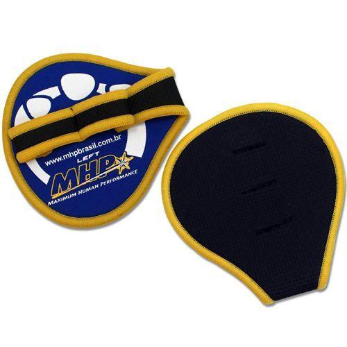 Luva para Musculação Esportiva Rubber - Tamanho Tu - Azul/amarela - MHP