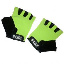 Luva para Musculação - Tamanho M - Verde Limão - Mazox