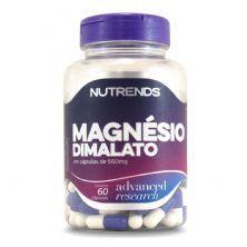 Malato de Magnésio  550mg - 60 Cápsulas - Nutrends*** CAPSULA ESTOURADA *** Data Venc. 30/03/2023
