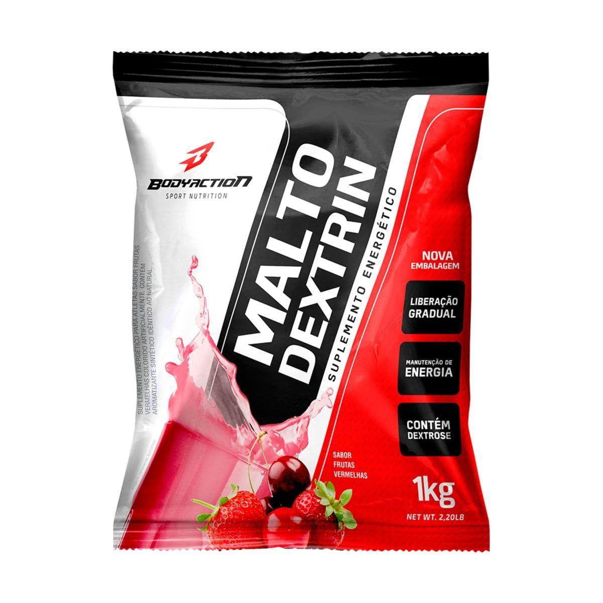 Malto Dextrin - 1000g Refil Frutas Vermelhas - BodyAction