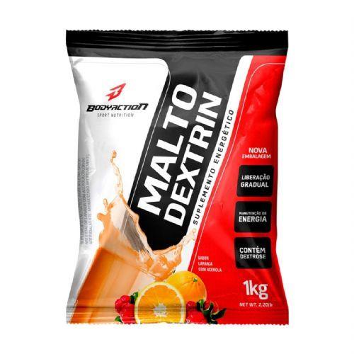 Malto Dextrin - 1000g Refil Laranja com Acerola - BodyAction no Atacado