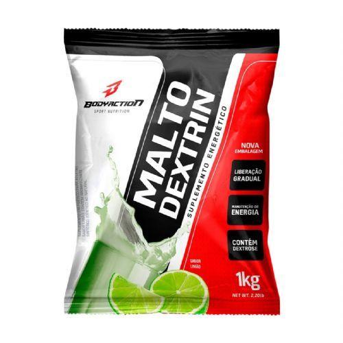 Malto Dextrin - 1000g Refil Limao - BodyAction no Atacado