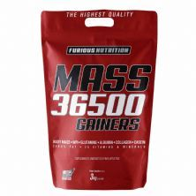 Mass 36500 Gainers - 3000g Morango - Furious Nutrition