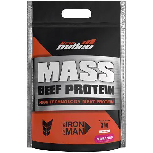 Mass Beef Protein - 3000g Refil Morango - New Millen no Atacado