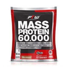 Mass Protein 60.000 - 3Kg Refil Morango - FTW