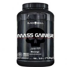 Mass Gainer - 1500g Morango - Black skull