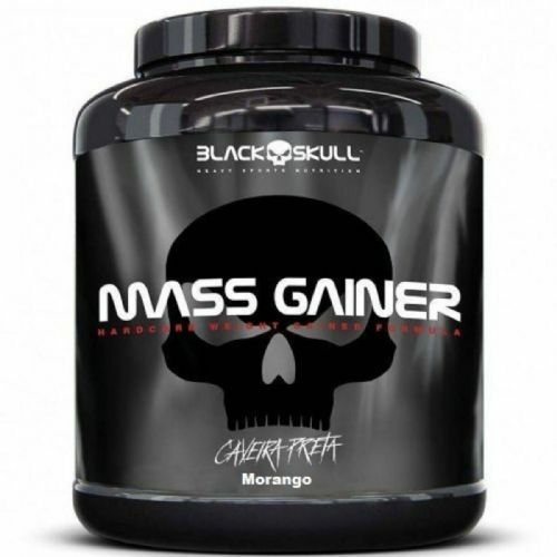Mass Gainer - 3000g Morango - Black skull no Atacado