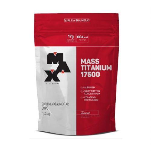 Mass Titanium 17500 - 1400g Refil Morango - Max Titanium no Atacado
